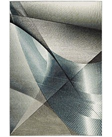 """Hollywood Gray and Teal 5'3"""" x 7'6"""" Area Rug"""