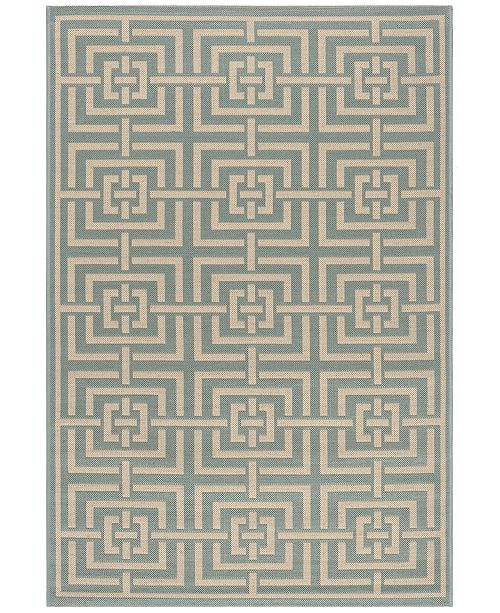 Safavieh Linden Aqua and Cream 4' x 6' Area Rug