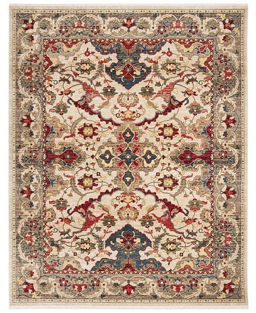Safavieh Kashan Ivory and Taupe 8' x 10' Sisal Weave Area Rug