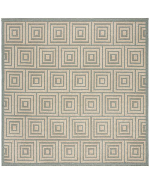 "Safavieh Linden Cream and Aqua 6'7"" x 6'7"" Square Area Rug"