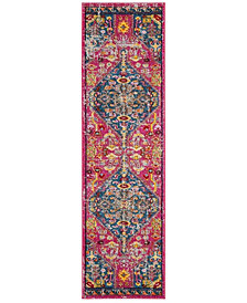 "Safavieh Madison Pink and Turquoise 2'3"" x 8' Runner Area Rug"
