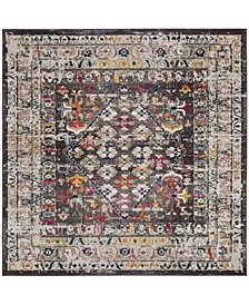 "Safavieh Monaco Brown and Gray 6'7"" x 6'7"" Square Area Rug"