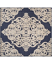 "Cottage Navy 6'7"" x 6'7"" Square Area Rug"