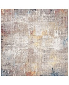 Monray Gray and Gold 7' x 7' Square Area Rug