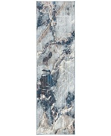 """Monray Blue and Ivory 2'3"""" x 8' Runner Area Rug"""