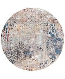 Safavieh Monray Blue and Multi 7' x 7' Round Area Rug