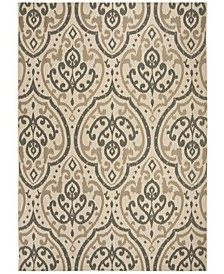 """Beige and Anthracite 8' x 11'2"""" Area Rug, Created for Macy's"""