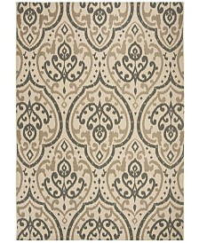 """Martha Stewart Collection Beige and Anthracite 8' x 11'2"""" Area Rug, Created for Macy's"""