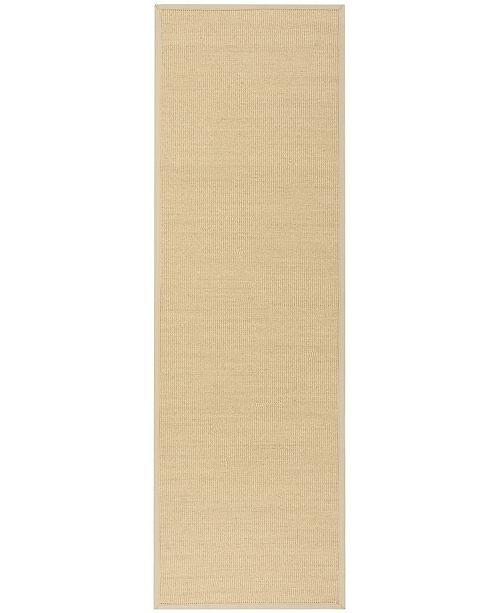 "Safavieh Natural Fiber Natural and Ivory 2'6"" x 8' Sisal Weave Runner Area Rug"