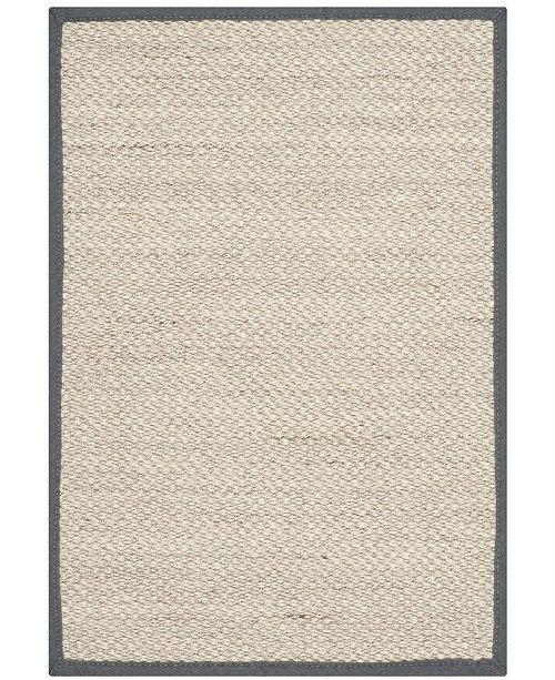 Safavieh Natural Fiber Marble and Dark Gray 2' x 3' Sisal Weave Area Rug