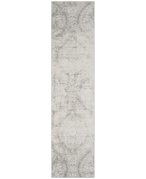Safavieh Princeton Grey and Beige 2' x 8' Runner Area Rug