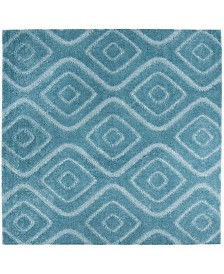 "Safavieh Olympia Blue 6'7"" x 6'7"" Square Area Rug"
