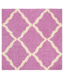Safavieh Dallas Pink and Ivory 6' x 6' Square Area Rug