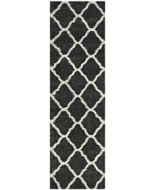 "Hudson Dark Grey and Ivory 2'3"" x 8' Runner Area Rug"