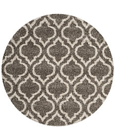 Safavieh Hudson Gray and Ivory 7' x 7' Round Area Rug