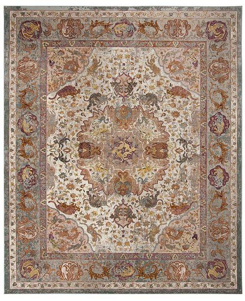 Safavieh Aria Beige and Orange 8' x 10' Area Rug