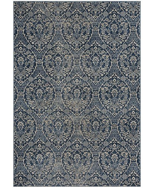 "Safavieh Brentwood Navy and Light Gray 5'3"" x 7'6"" Area Rug"