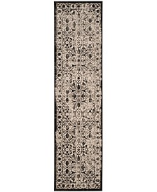 """Brilliance Creme and Black 2'2"""" x 8' Runner Area Rug"""