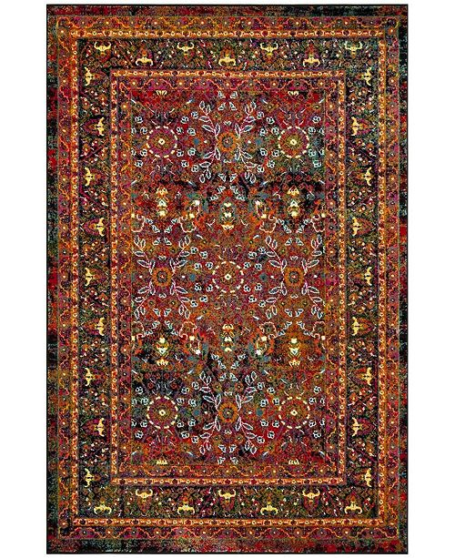 "Safavieh Cherokee Red and Black 5'1"" x 7'6"" Area Rug"