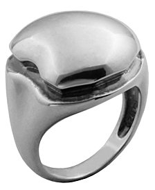 925 Sterling Silver Dome Design Band Ring
