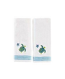 Watercolor Ocean 2 Piece Hand Towel Set