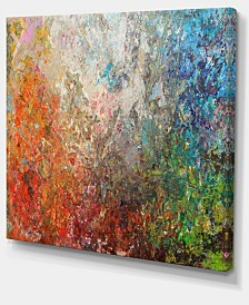 "Designart Board Stained Abstract Art Abstract Canvas Art Print - 40"" X 30"""