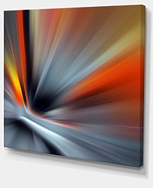 """Designart Rays Of Speed Large Lines Abstract Canvas Art Print - 40"""" X 30"""""""