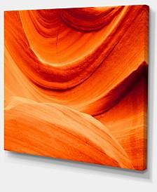 "Designart Antelope Canyon Orange Wall Photography Canvas Print - 20"" X 12"""