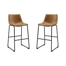 "30"" Faux Leather Barstool 2 Pack"