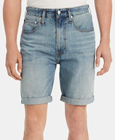 "Calvin Klein Jeans Men's Straight-Fit Cuffed Denim 9"" Shorts"