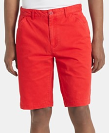 "Calvin Klein Jeans Men's Flat Front Twill 9"" Shorts"
