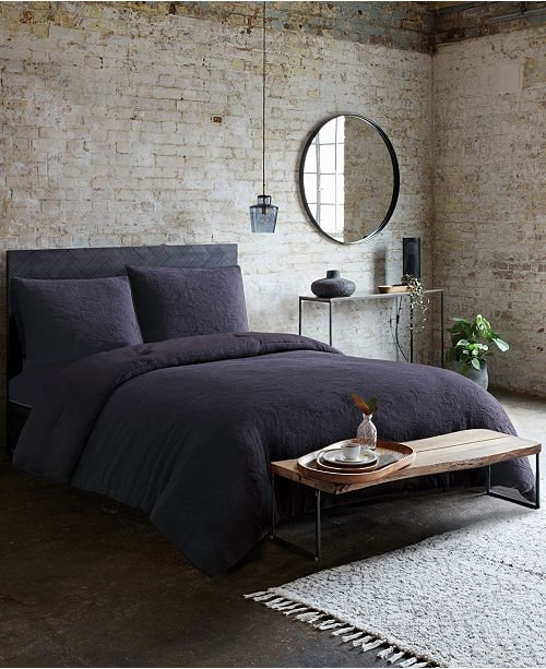 French Connection Evening Mist 3-Piece Queen Duvet Cover Set