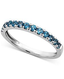 London Blue Topaz (1/2 ct. t.w.) Ring in 14k White Gold