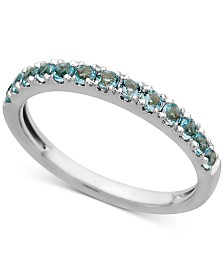 Aquamarine Band (1/2 ct. t.w.) in 14k White Gold