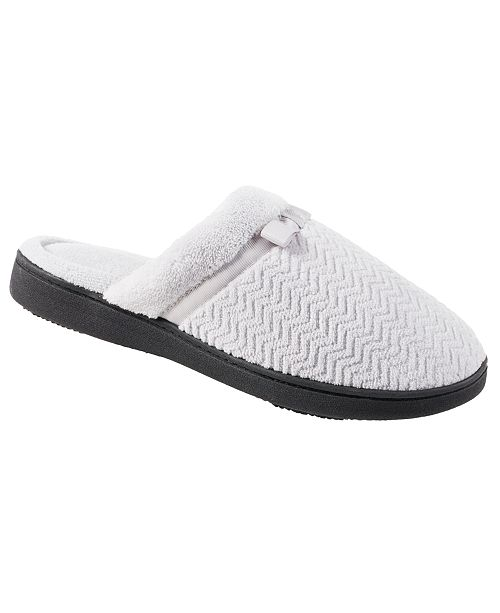 Isotoner Signature Isotoner Women's Chevron Microterry Clog  Slipper