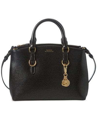 Lauren Ralph Lauren Bennington Mini Zip Saffiano Leather Satchel