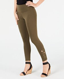 I.N.C. Lattice Ankle Shaping Leggings, Created for Macy's