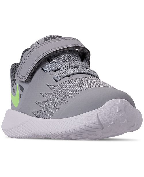 728300a042b1 Nike Toddler Boys  Star Runner Adjustable Strap Running Sneakers from Finish  ...