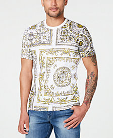 I.N.C. Men's Foil Baroque T-Shirt, Created for Macy's