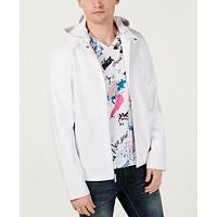 I.N.C. Mens Perforated Hooded Jacket