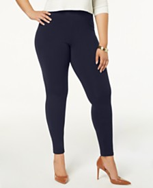 HUE® Women's  Plus Size Cotton Leggings, Created for Macy's