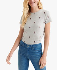 Lucky Brand Embroidered Crewneck Top