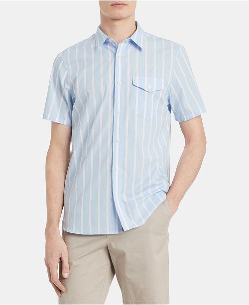 Calvin Klein Men's Classic-Fit Yarn-Dyed Stripe Shirt
