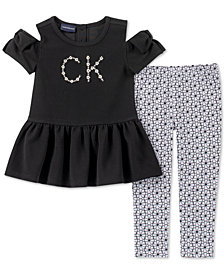 Calvin Klein Baby Girls 2-Pc. Cold Shoulder Tunic & Leggings Set