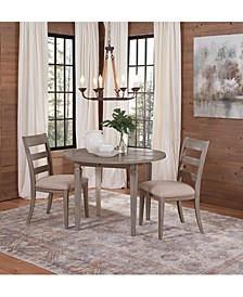 Talulah Dining 3-Pc. Set (Table & 2 Wood Back Side Chairs)