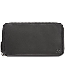 Calvin Klein Men's Continental Leather Zip Wallet