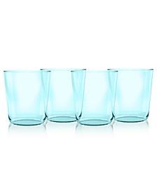 Simple Double Old Fashion Glass, Aqua, 15.9 oz., Premium Plastic, Set of 6