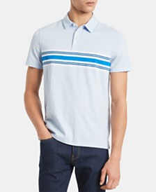 Calvin Klein Men's Slim-Fit Engineered Stripe Polo Shirt