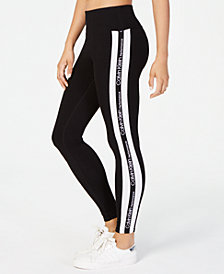 Calvin Klein Performance High-Rise Varsity-Stripe Leggings