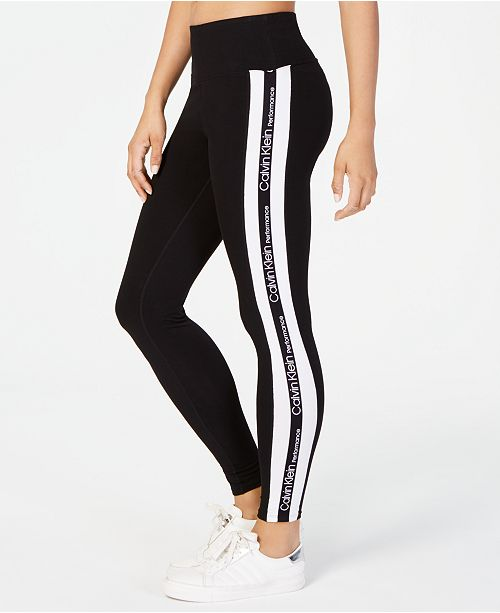26fc8c712eb Calvin Klein High-Rise Varsity-Stripe Leggings   Reviews - Pants ...